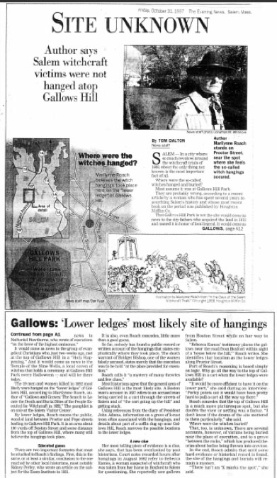 Site Unknown: Gallows Hill: Salem Evening News